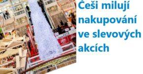 Češi milují nakupování ve slevových akcích